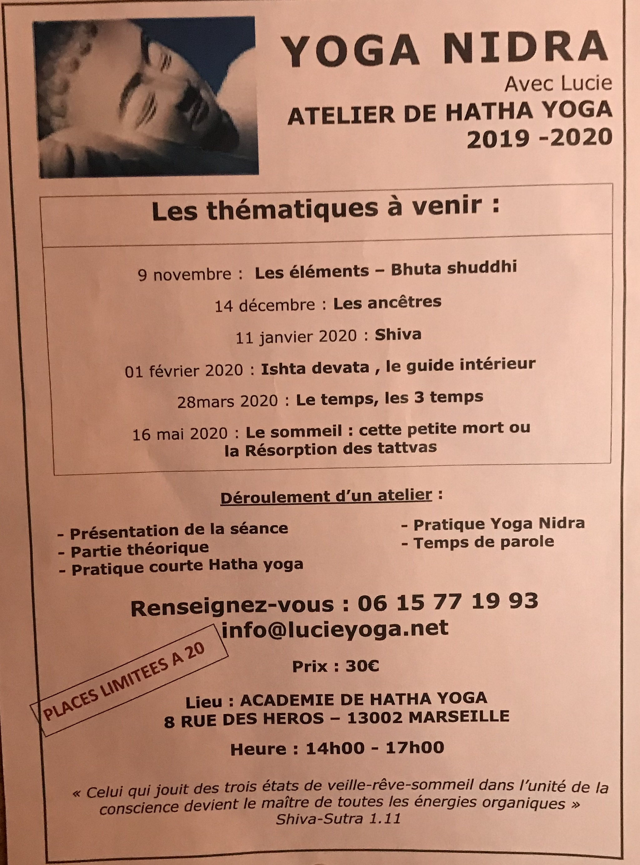 Ateliers Lucie  - 2019-2020